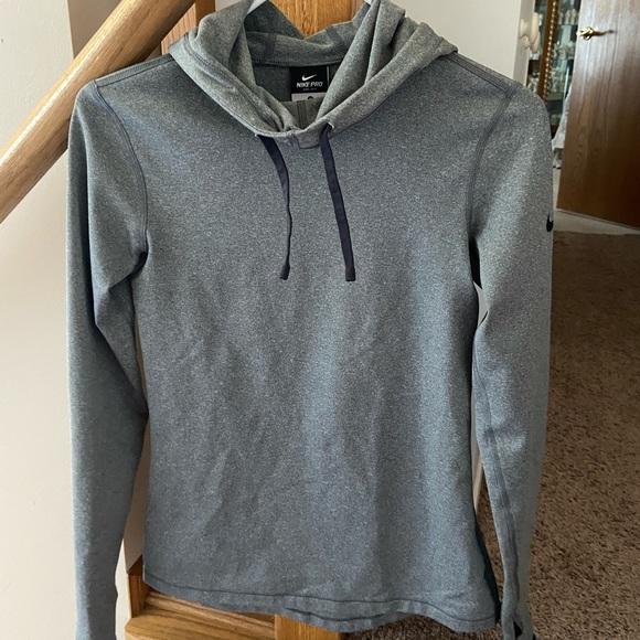 Nike funnel neck w/ hood long sleeve